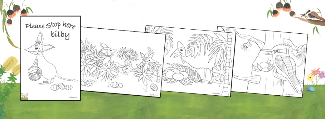 Little Bilby Colouring Sheets