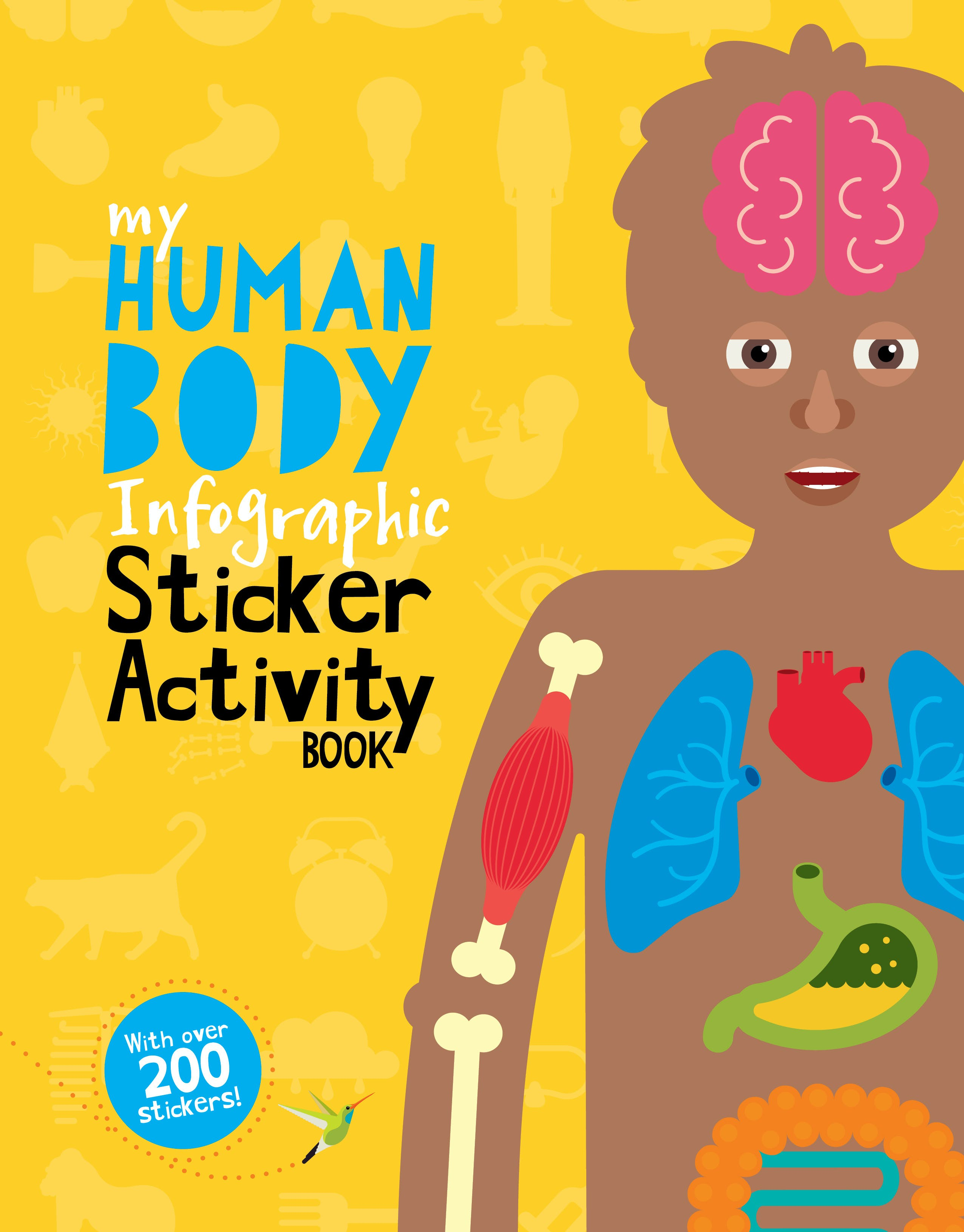 My Human Body Infographic Sticker Activity Book by Jo Dearden