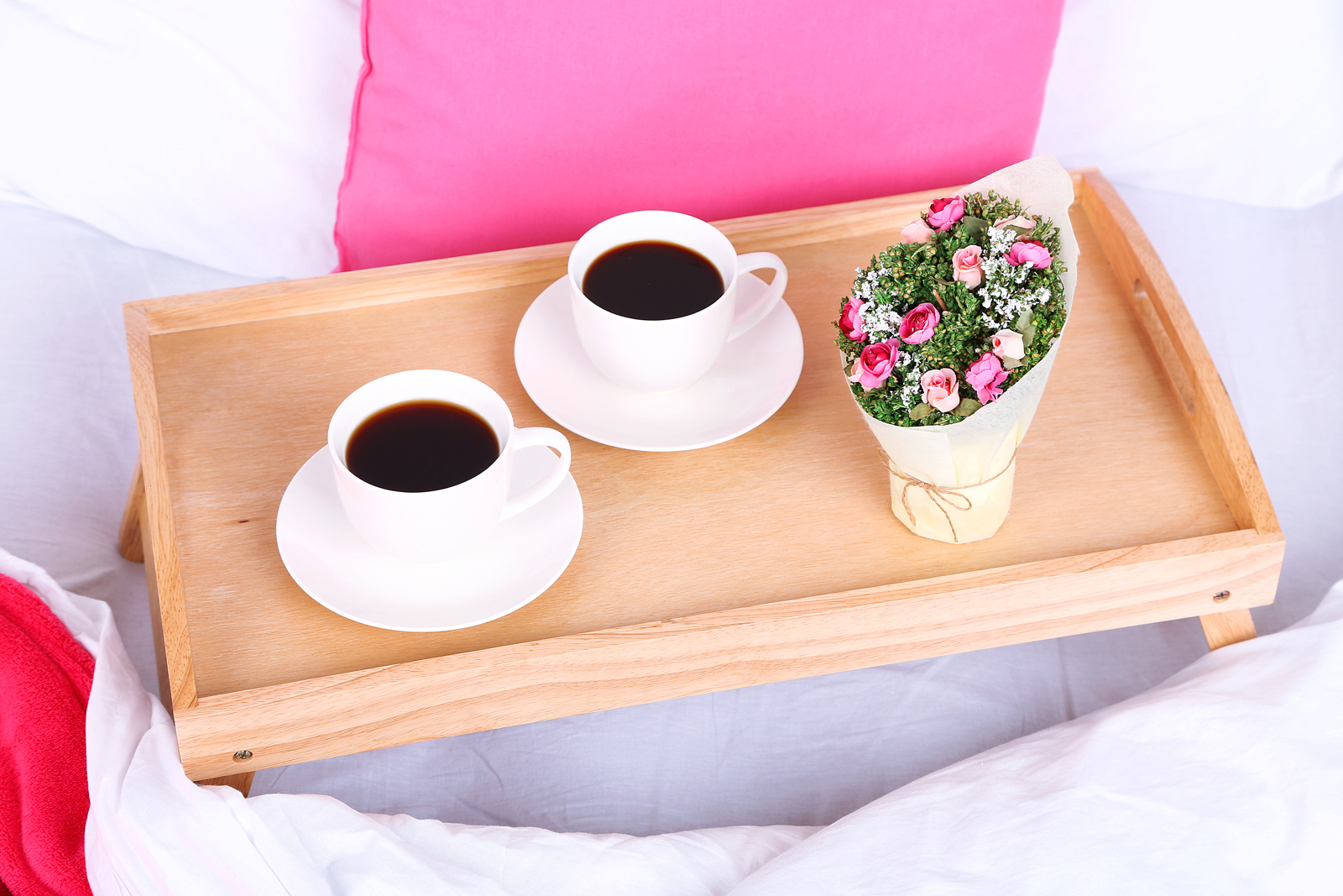 A secret to a happy marriage coffee in bed